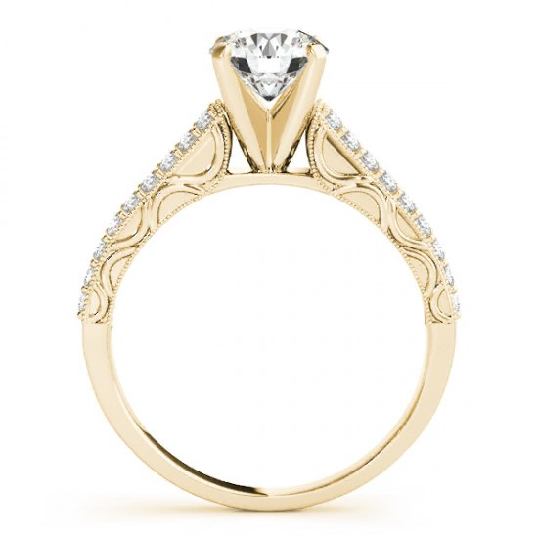 1.41 CTW Certified VS/SI Diamond Solitaire Antique Ring - 2