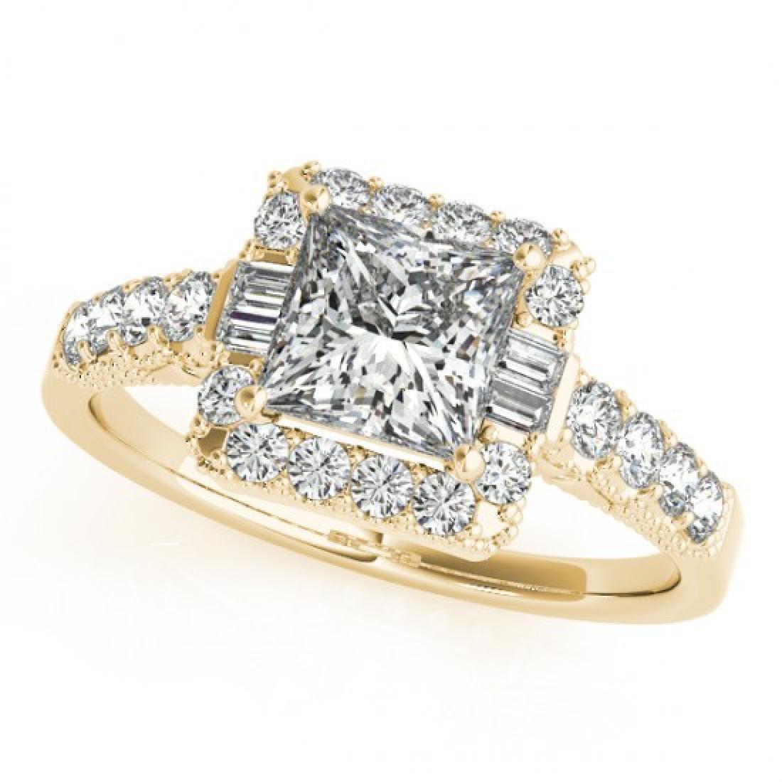 1.65 CTW Certified VS/SI Princess Diamond Solitaire