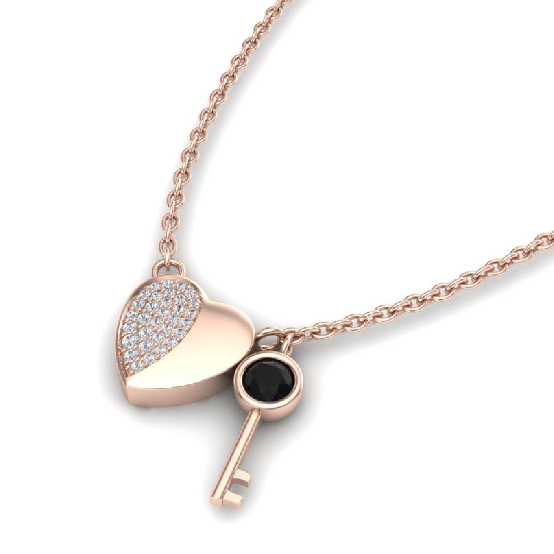 0.50 CTW Micro Black & VS/SI Diamond Key To The Heart