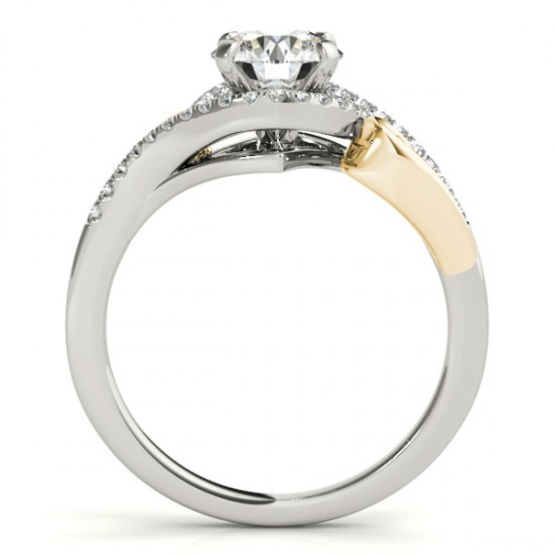 1 CTW Certified VS/SI Diamond Solitaire Halo Ring 14K - 2