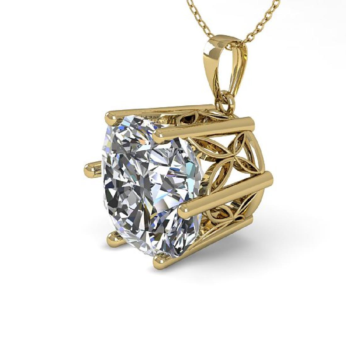 1 CTW VS/SI Cushion Cut Diamond Art Deco Necklace 14K