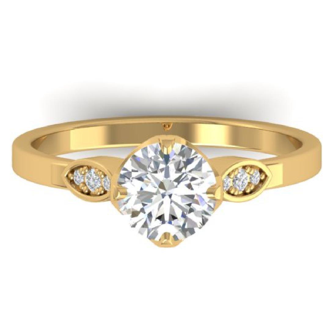 1.05 CTW Certified VS/SI Diamond Solitaire Art Deco