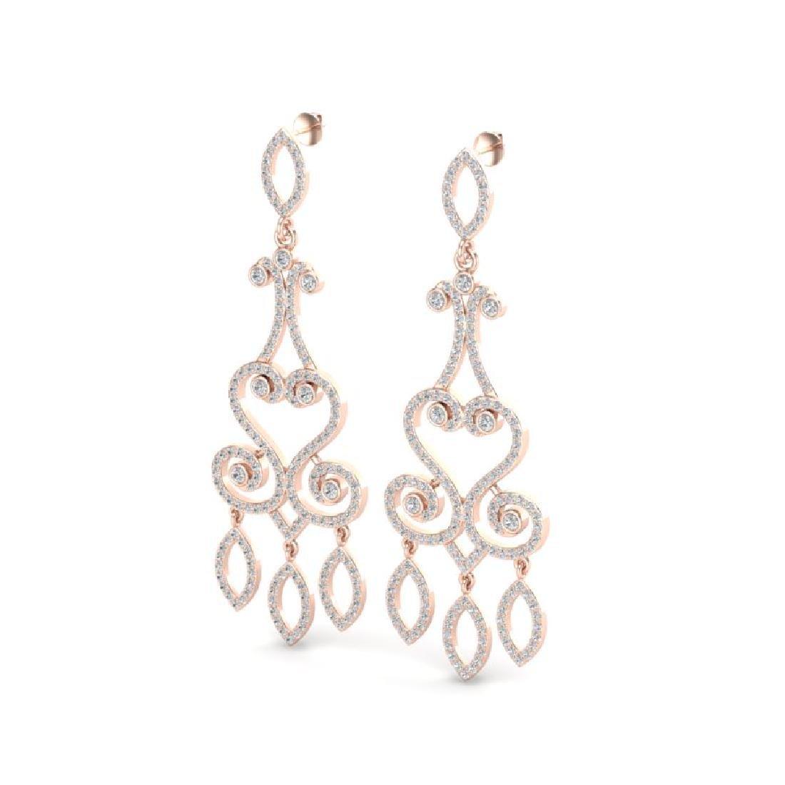 3.25 CTW VS/SI Diamond Micro Pave Designer Earrings 14K
