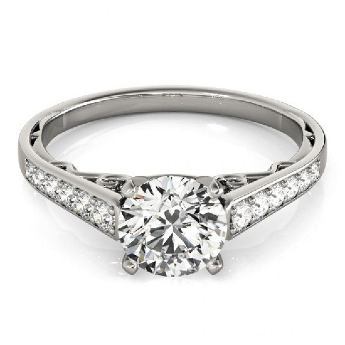 0.85 CTW Certified VS/SI Diamond Solitaire Ring 14K