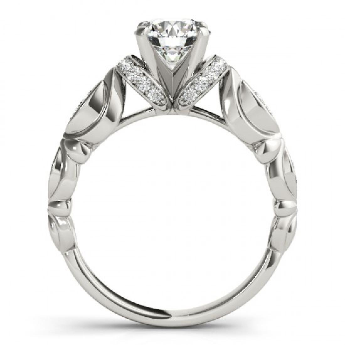 0.95 CTW Certified VS/SI Diamond Solitaire Antique Ring - 2