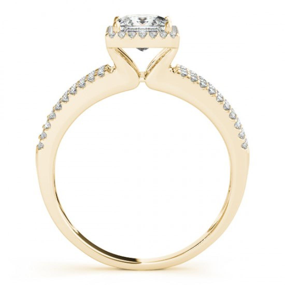 0.76 CTW Certified VS/SI Cushion Diamond Solitaire Halo - 2