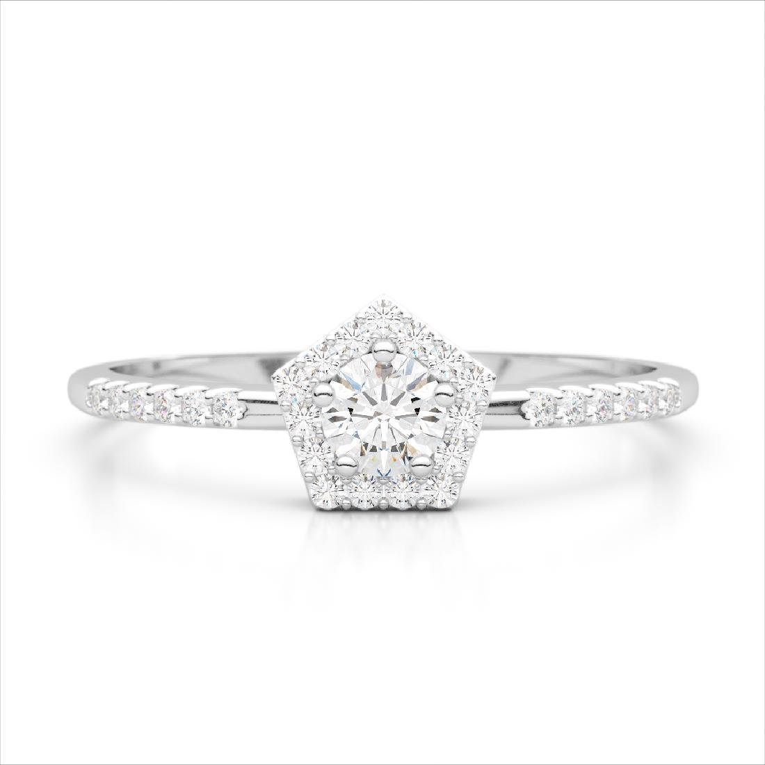 40 CTW Micro Pave VS/SI Diamond Halo Solitaire Ring 18K