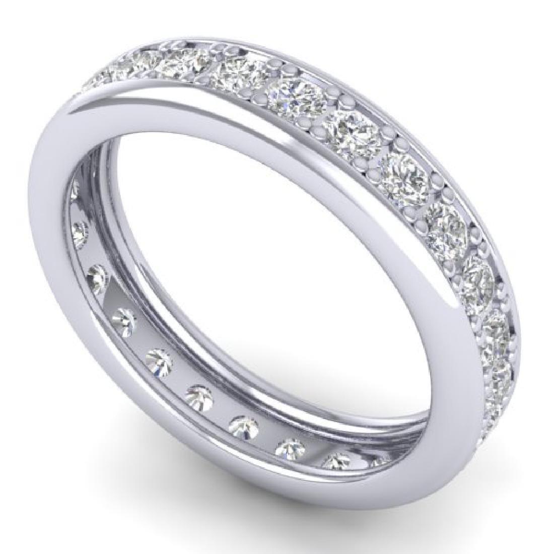 1.33 CTW Certified VS/SI Diamond Eternity Band Men's - 2