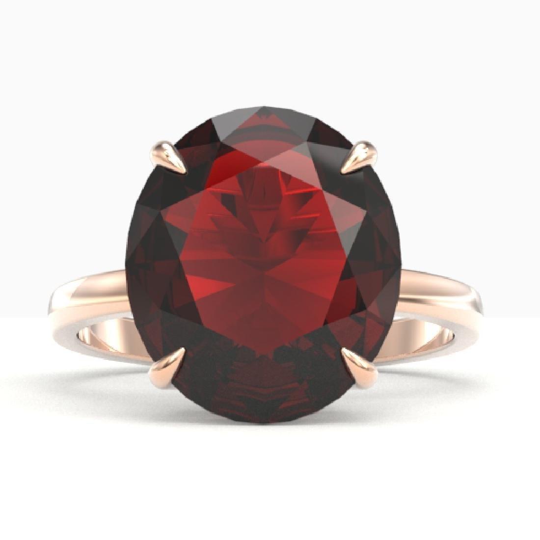 9 CTW Garnet Designer Solitaire Engagement Ring 14K