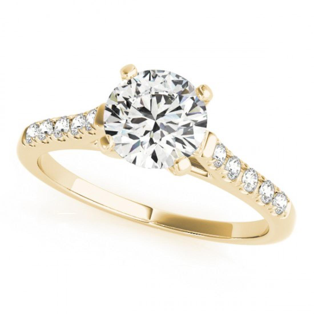 0.97 CTW Certified VS/SI Diamond Solitaire Ring 14K