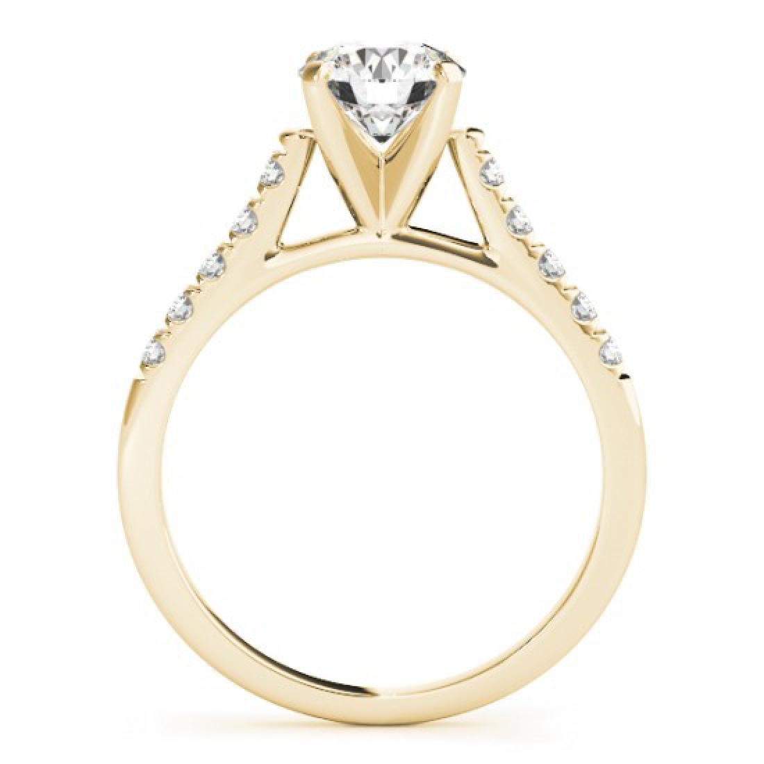 0.97 CTW Certified VS/SI Diamond Solitaire Ring 14K - 2