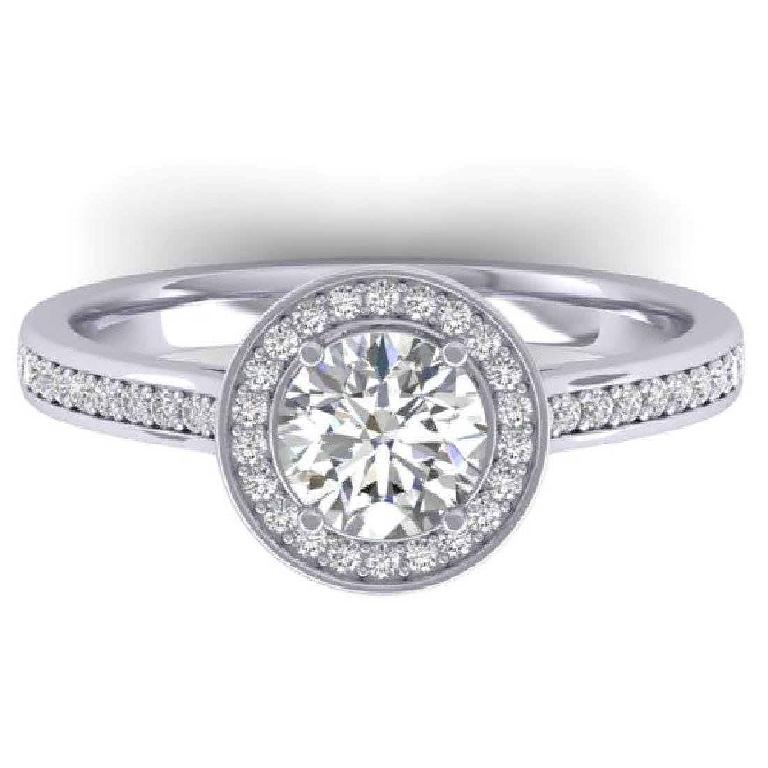 1.1 CTW Certified VS/SI Diamond Solitaire Micro Halo