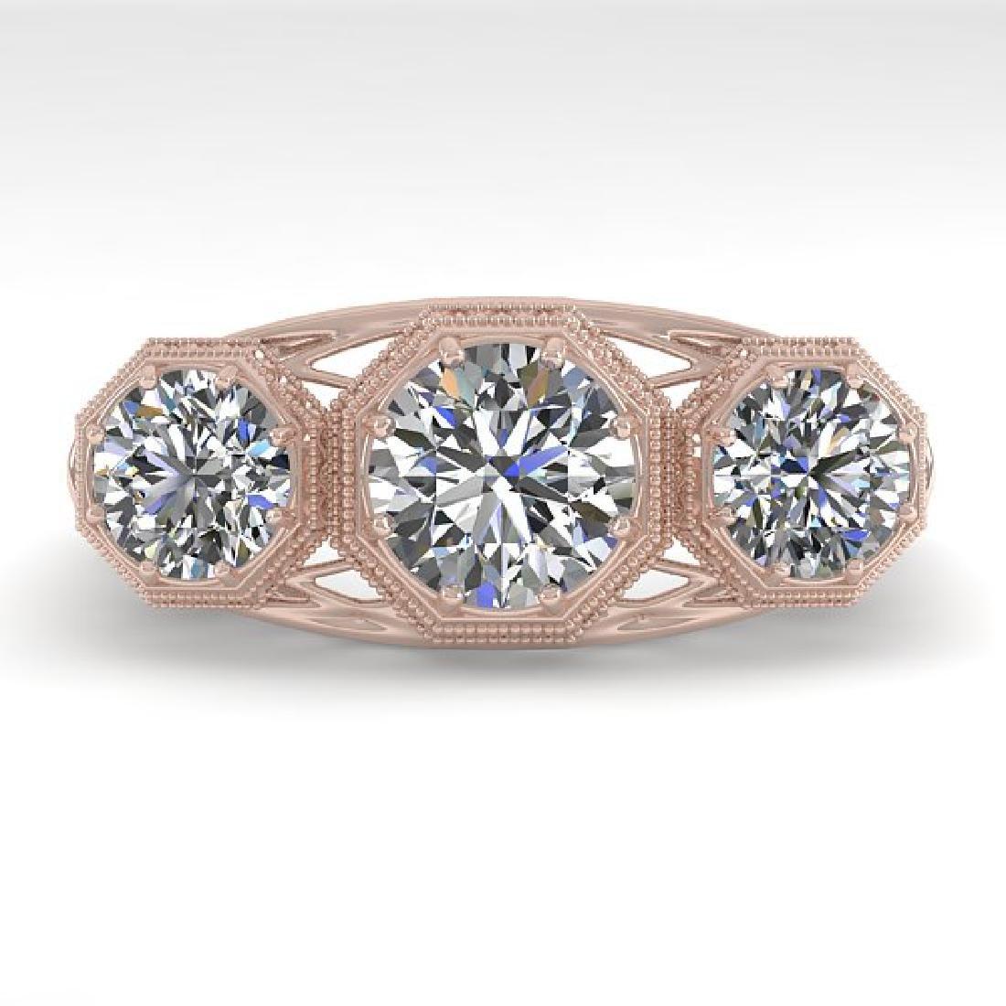 2 CTW VS/SI Diamond Ring 14K Rose Gold
