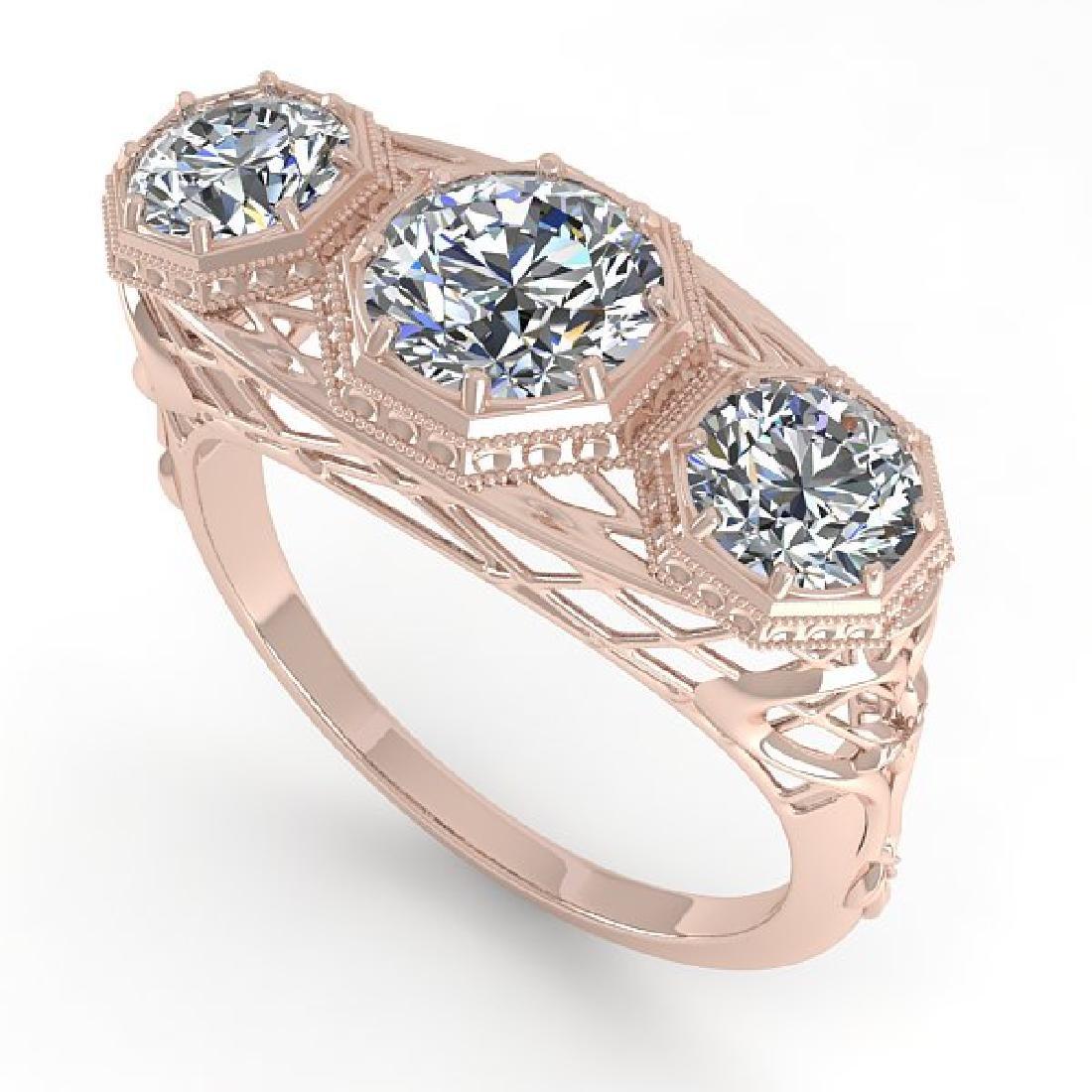 2 CTW VS/SI Diamond Ring 14K Rose Gold - 2