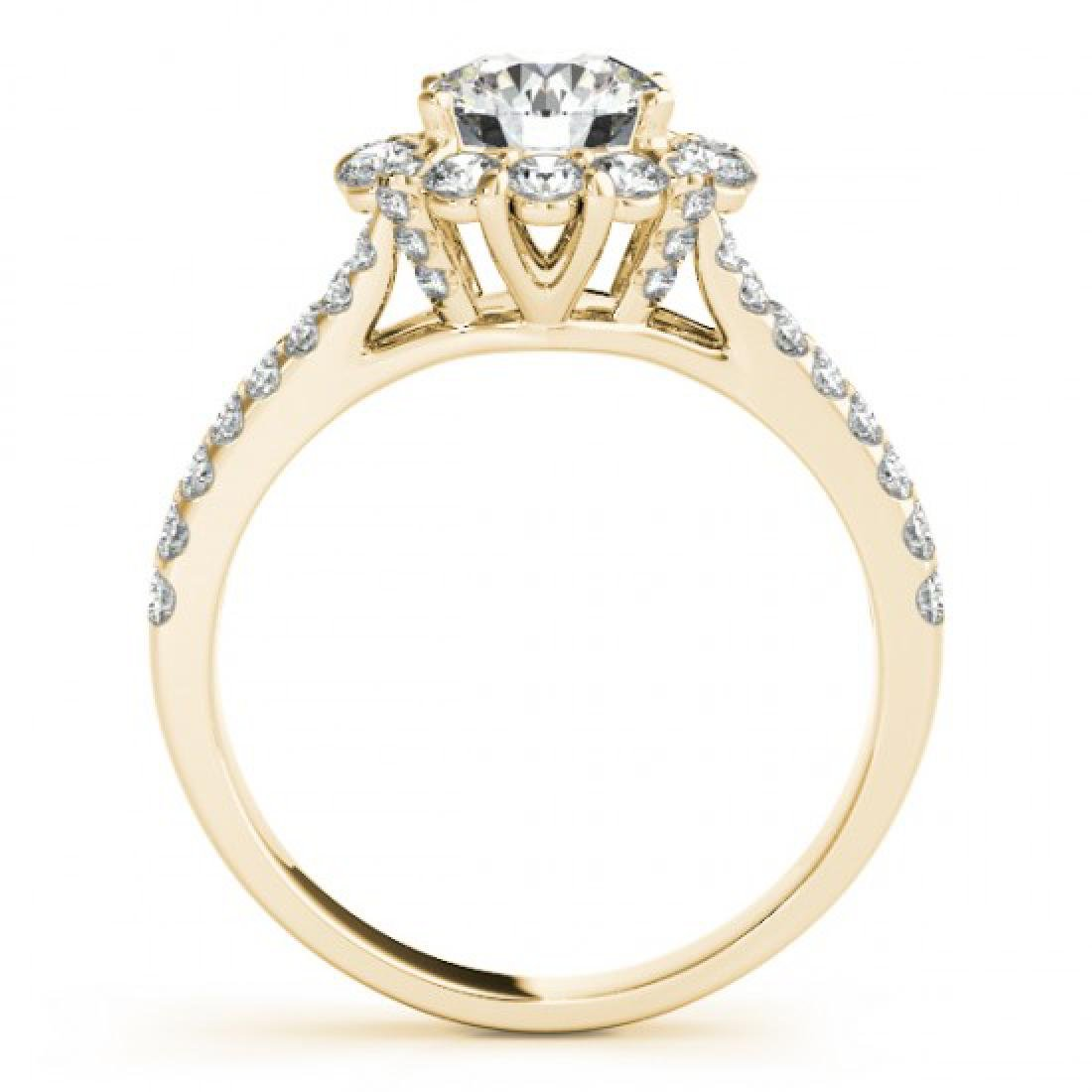 1.76 CTW Certified VS/SI Diamond Solitaire Halo Ring - 2