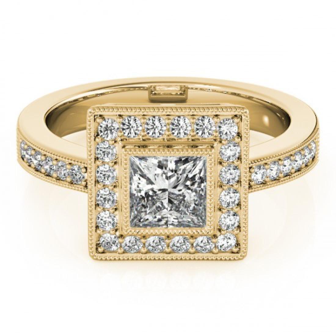 1.11 CTW Certified VS/SI Princess Diamond Solitaire