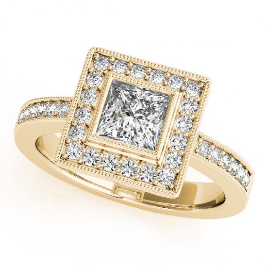 1.11 CTW Certified VS/SI Princess Diamond Solitaire - 2