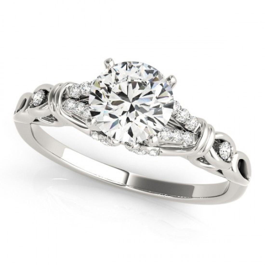 0.7 CTW Certified VS/SI Diamond Solitaire Ring 14K