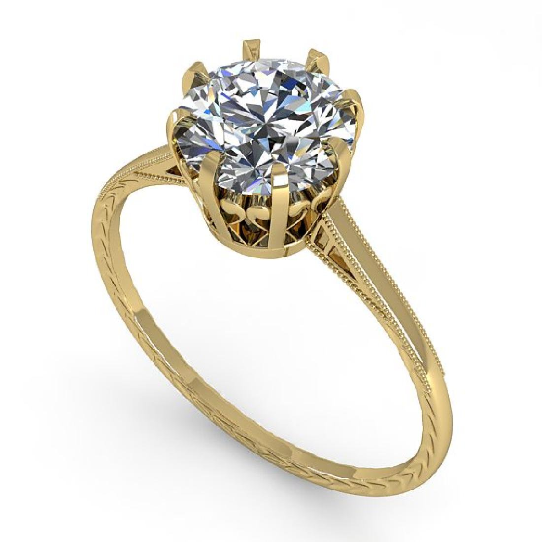 1.50 CTW Certified VS/SI Diamond Ring 14K Yellow Gold - 2
