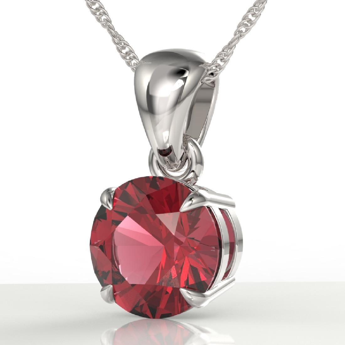 2 CTW Pink Tourmaline Designer Solitaire Necklace 18K