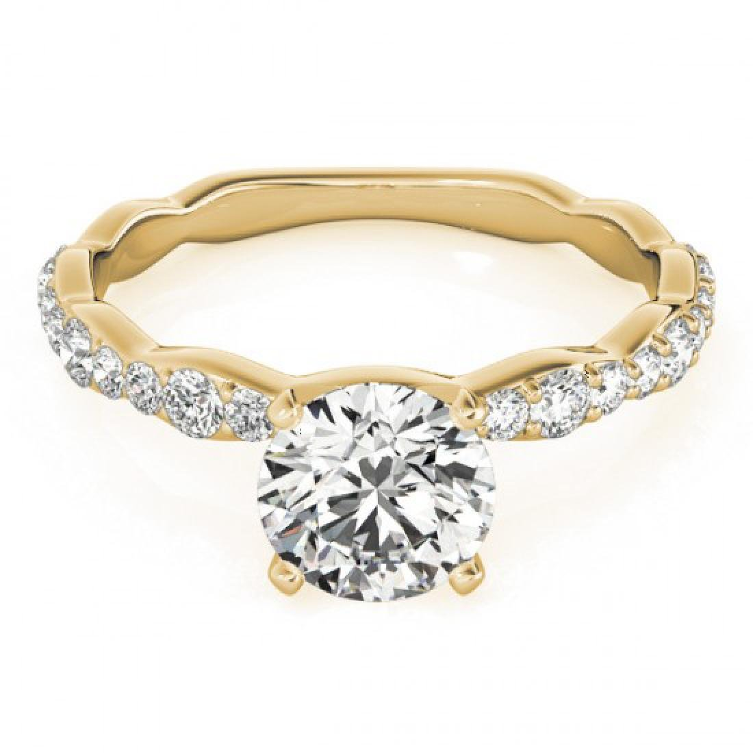 0.93 CTW Certified VS/SI Diamond Solitaire Ring 14K
