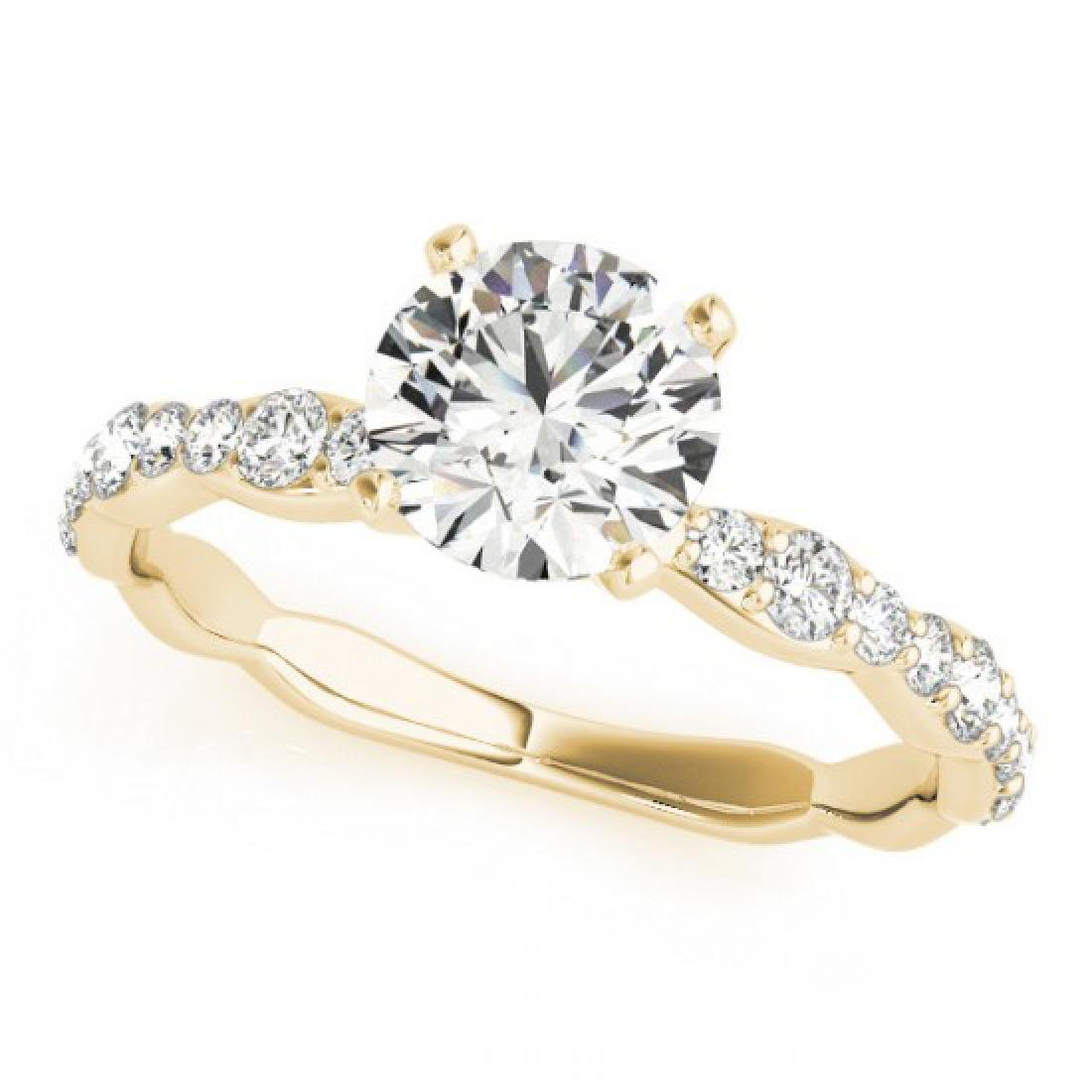 0.93 CTW Certified VS/SI Diamond Solitaire Ring 14K - 2