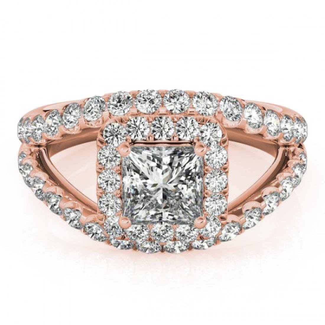 1.85 CTW Certified VS/SI Princess Diamond Solitaire