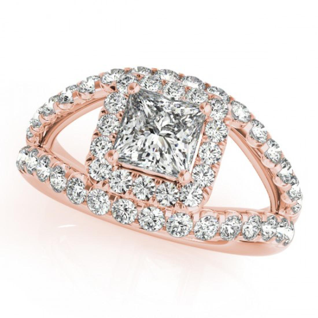 1.85 CTW Certified VS/SI Princess Diamond Solitaire - 2