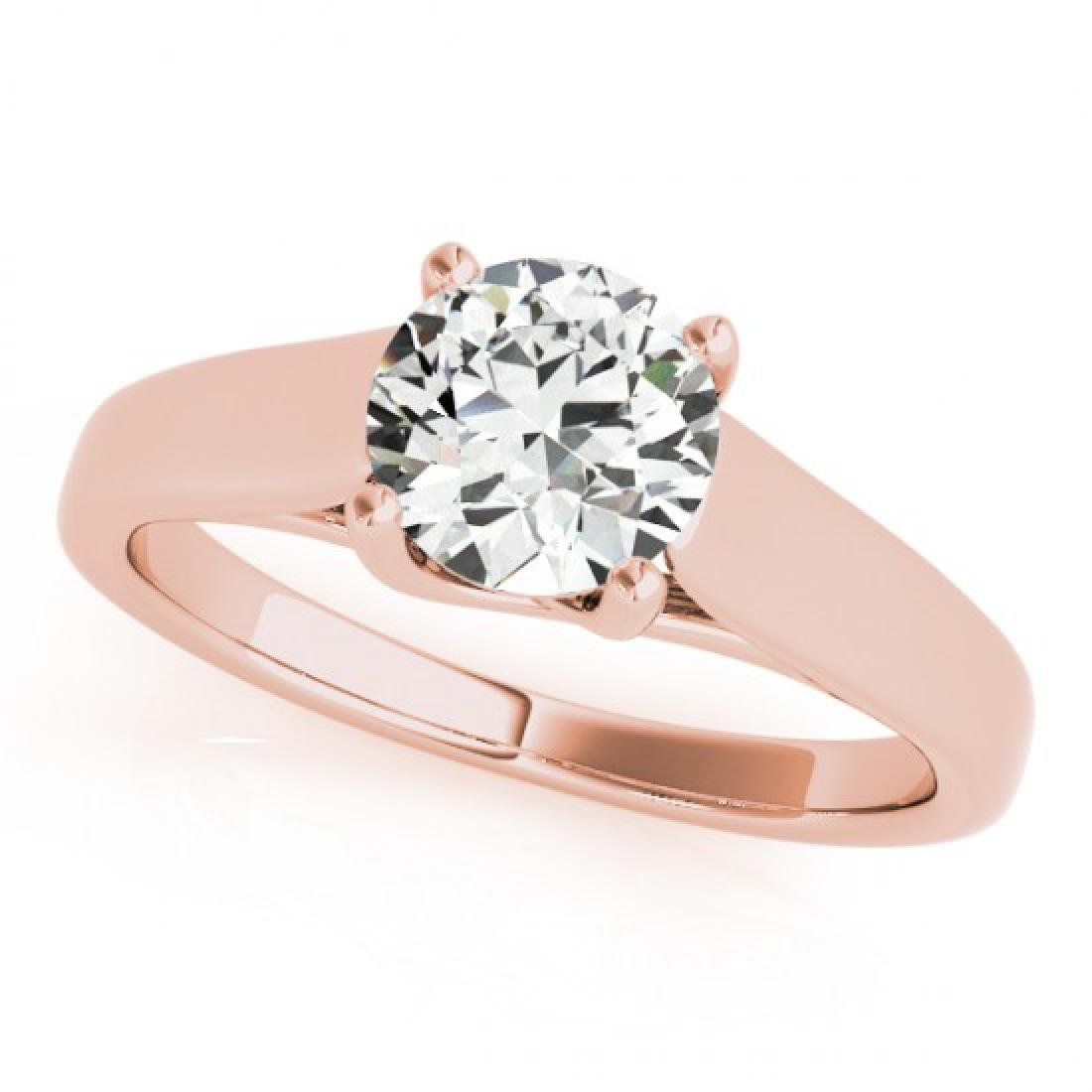 1 CTW Certified VS/SI Diamond Solitaire Ring 14K Rose - 2