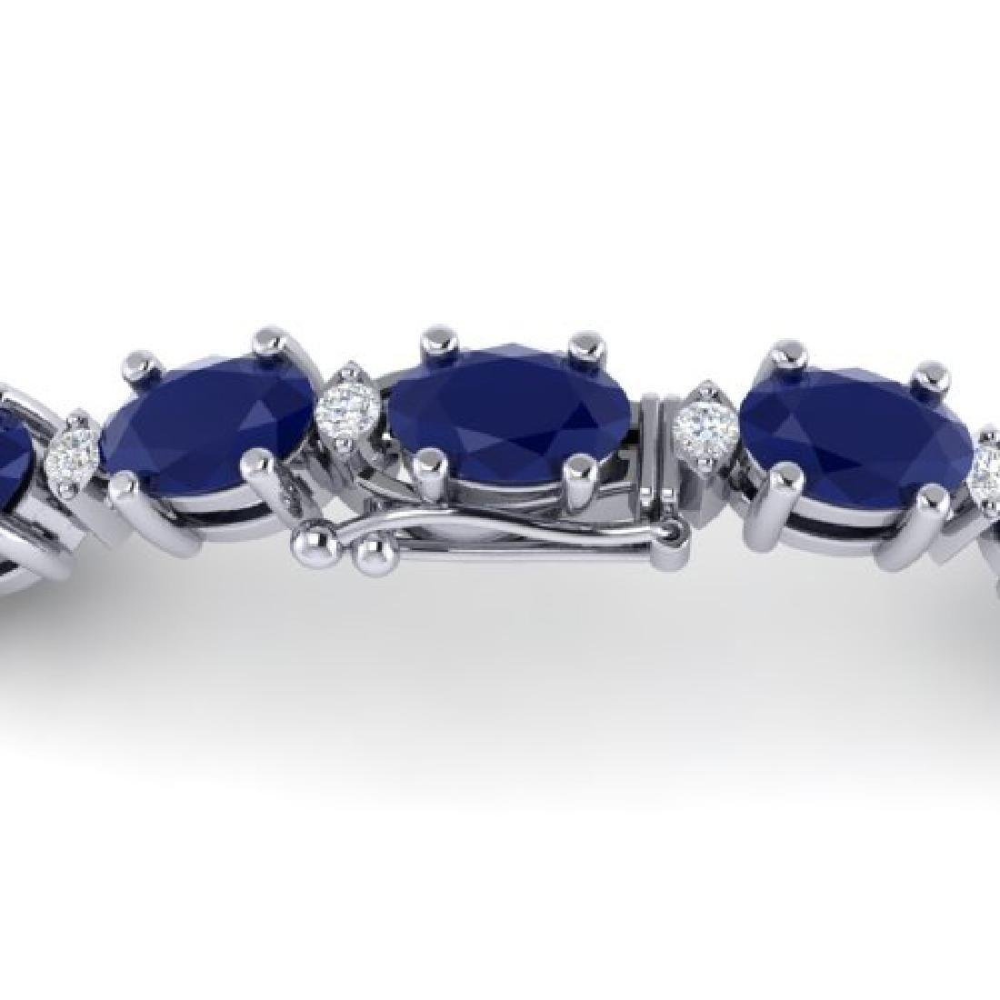 15 CTW Sapphire & VS/SI Diamond Eternity Bracelet 10K