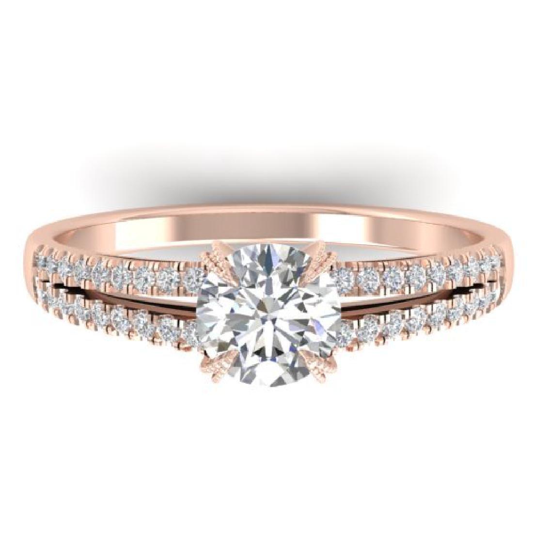 1.11 CTW Certified VS/SI Diamond Solitaire Art Deco