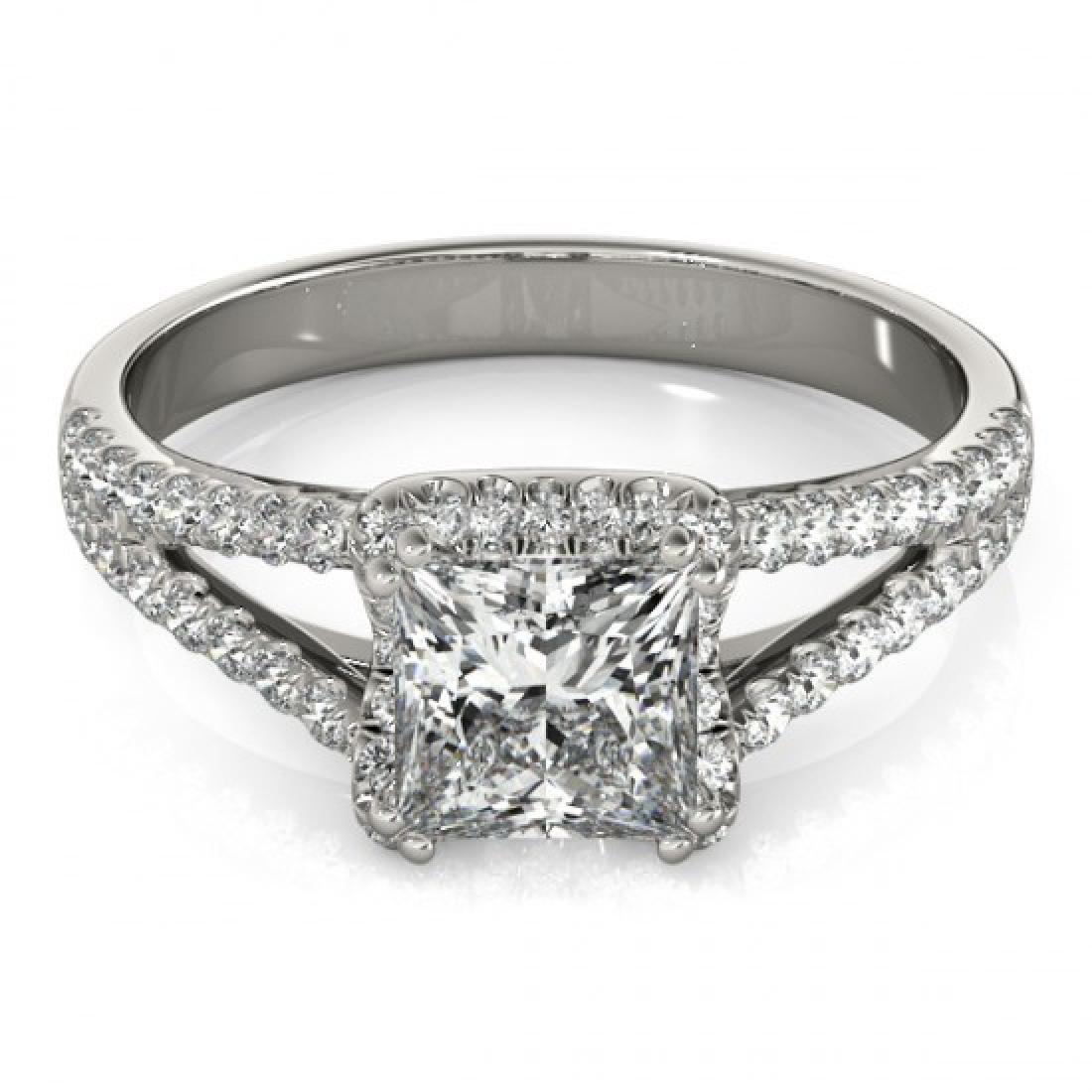 2.05 CTW Certified VS/SI Princess Diamond Solitaire