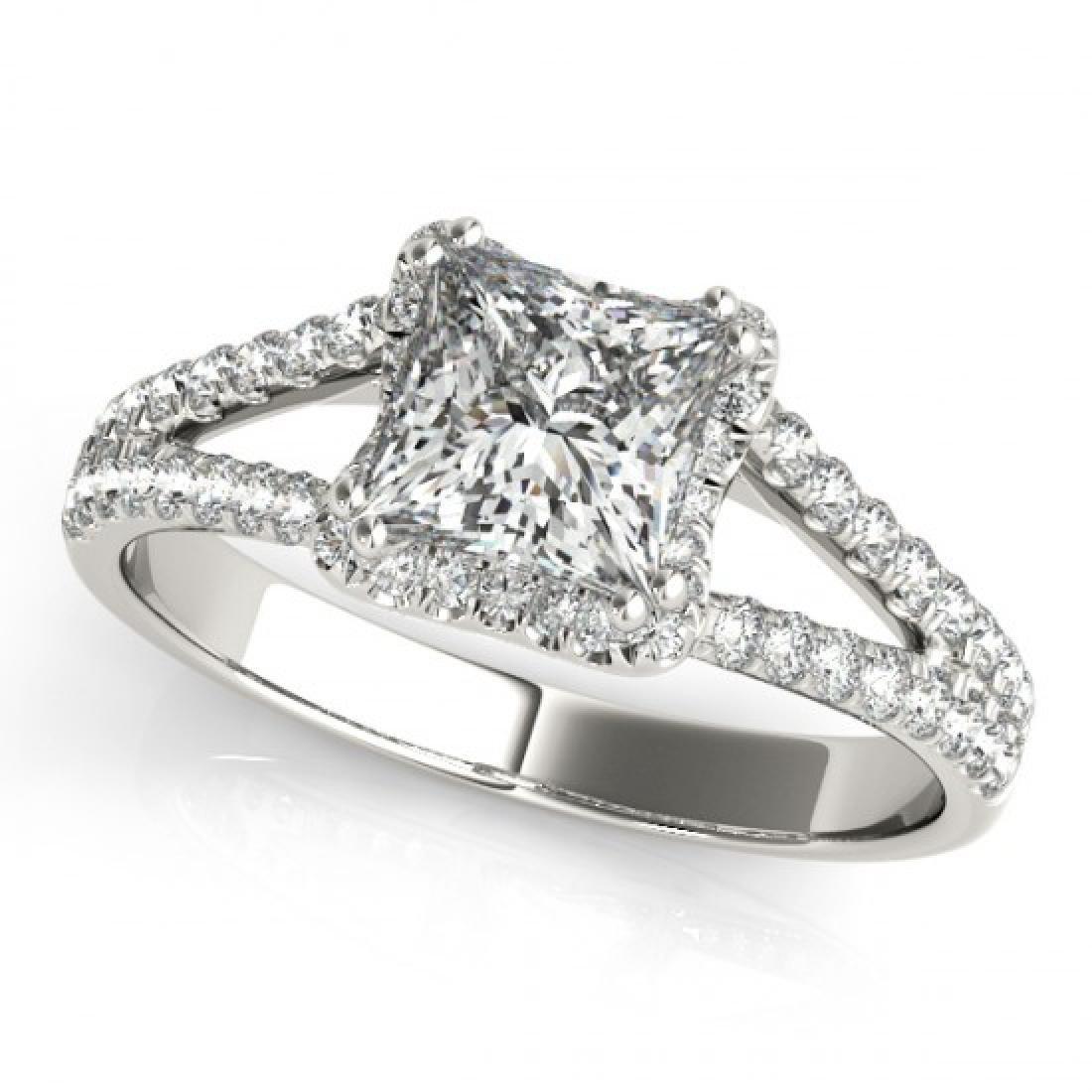 2.05 CTW Certified VS/SI Princess Diamond Solitaire - 2