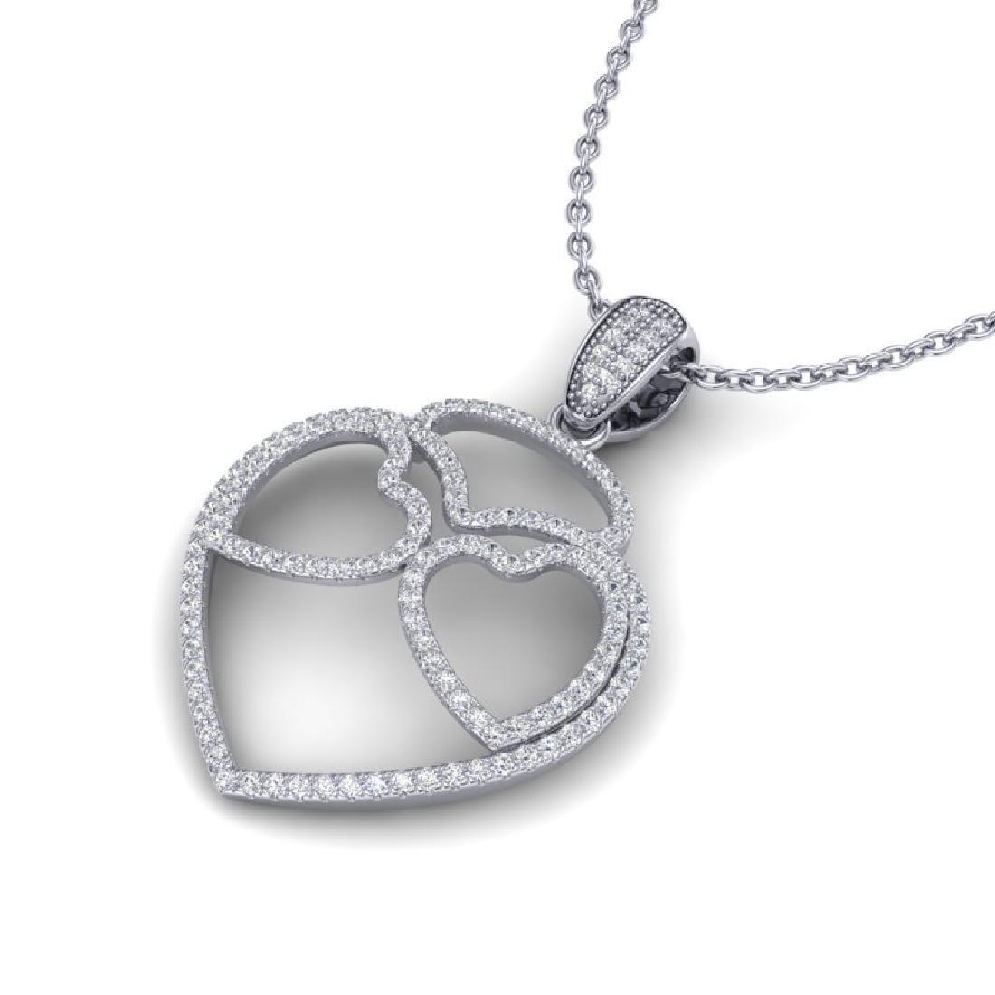 1.20 CTW Micro Pave VS/SI Diamond Designer Heart
