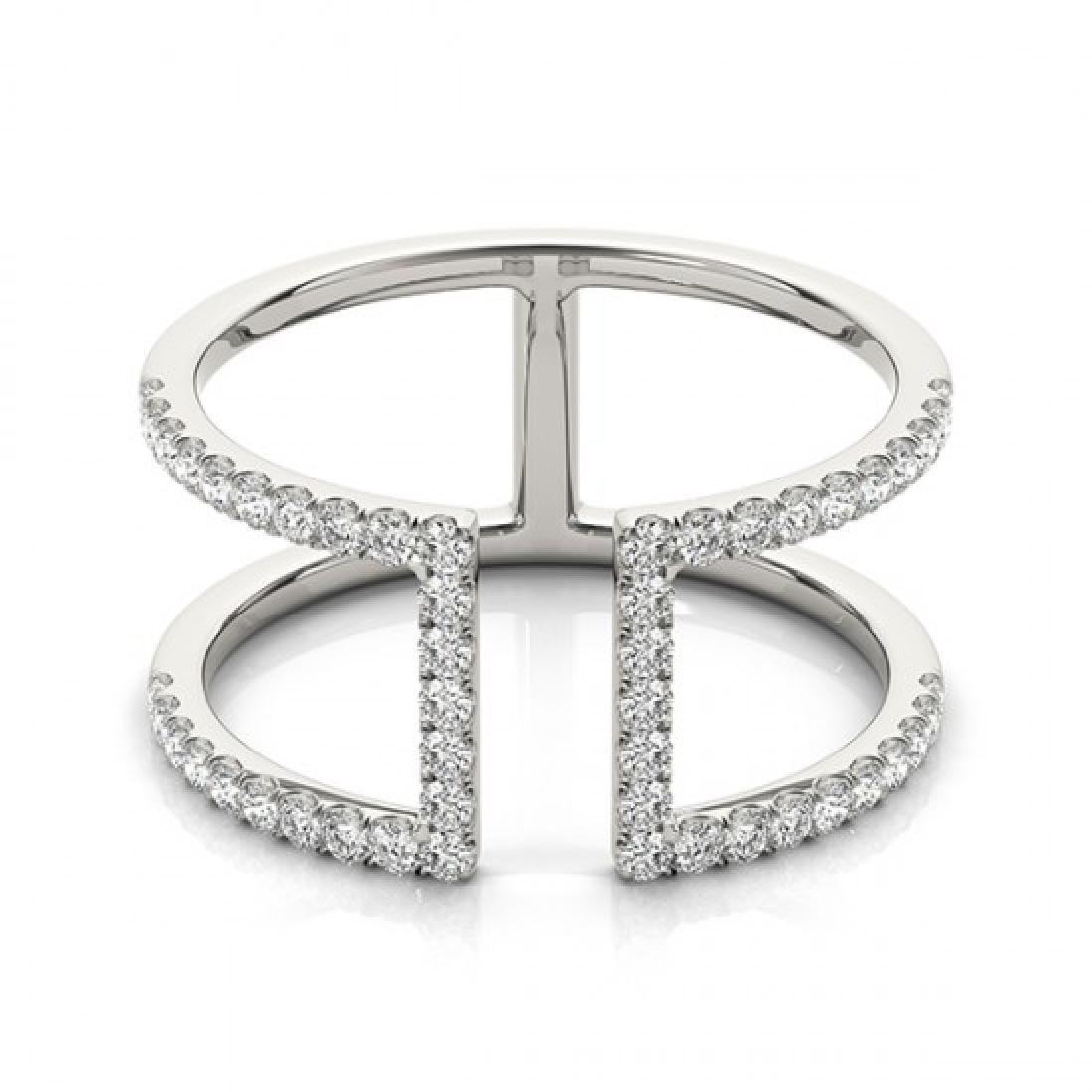 0.65 CTW Certified VS/SI Diamond Fashion Ring 14K White