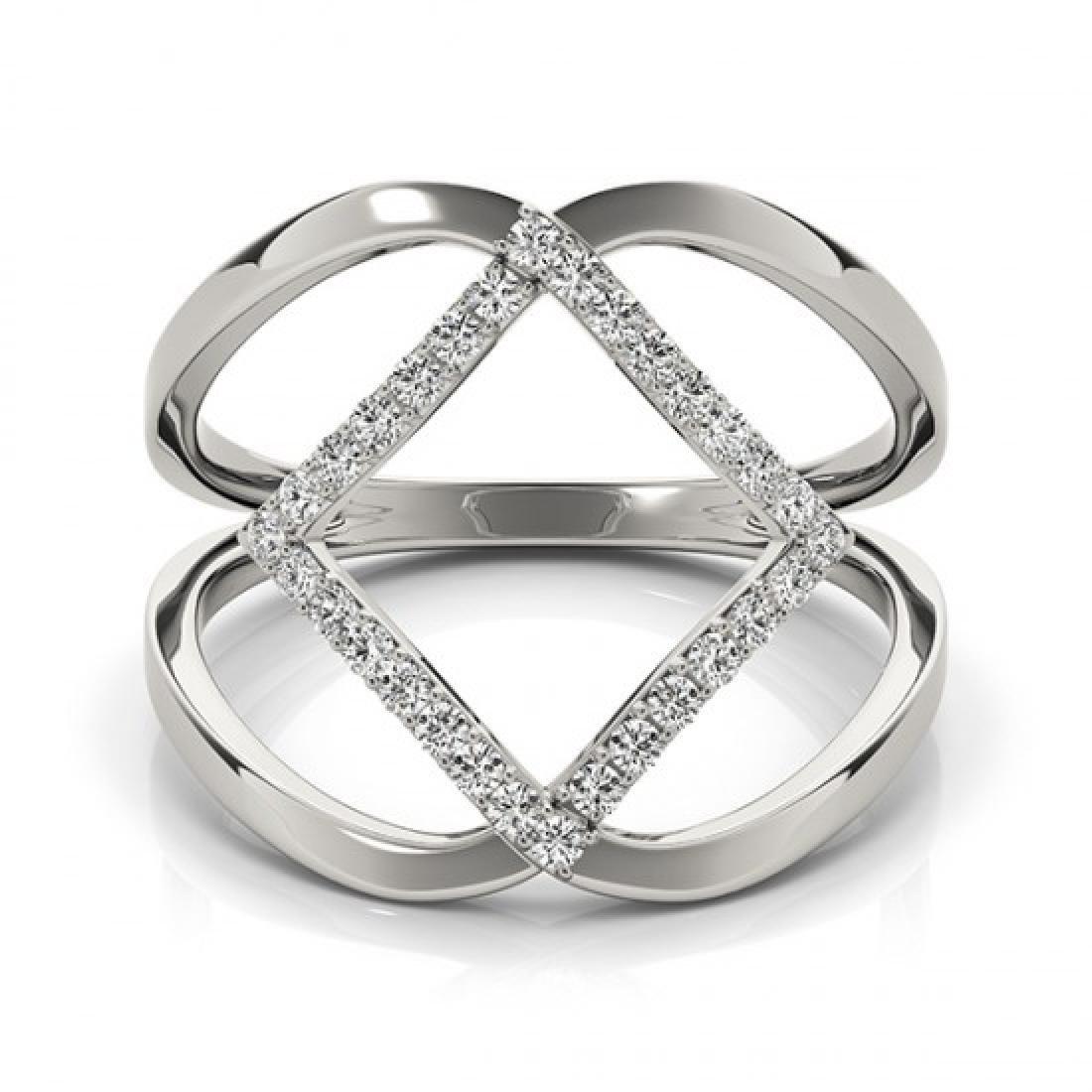 0.25 CTW Certified VS/SI Diamond Fashion Ring 14K White