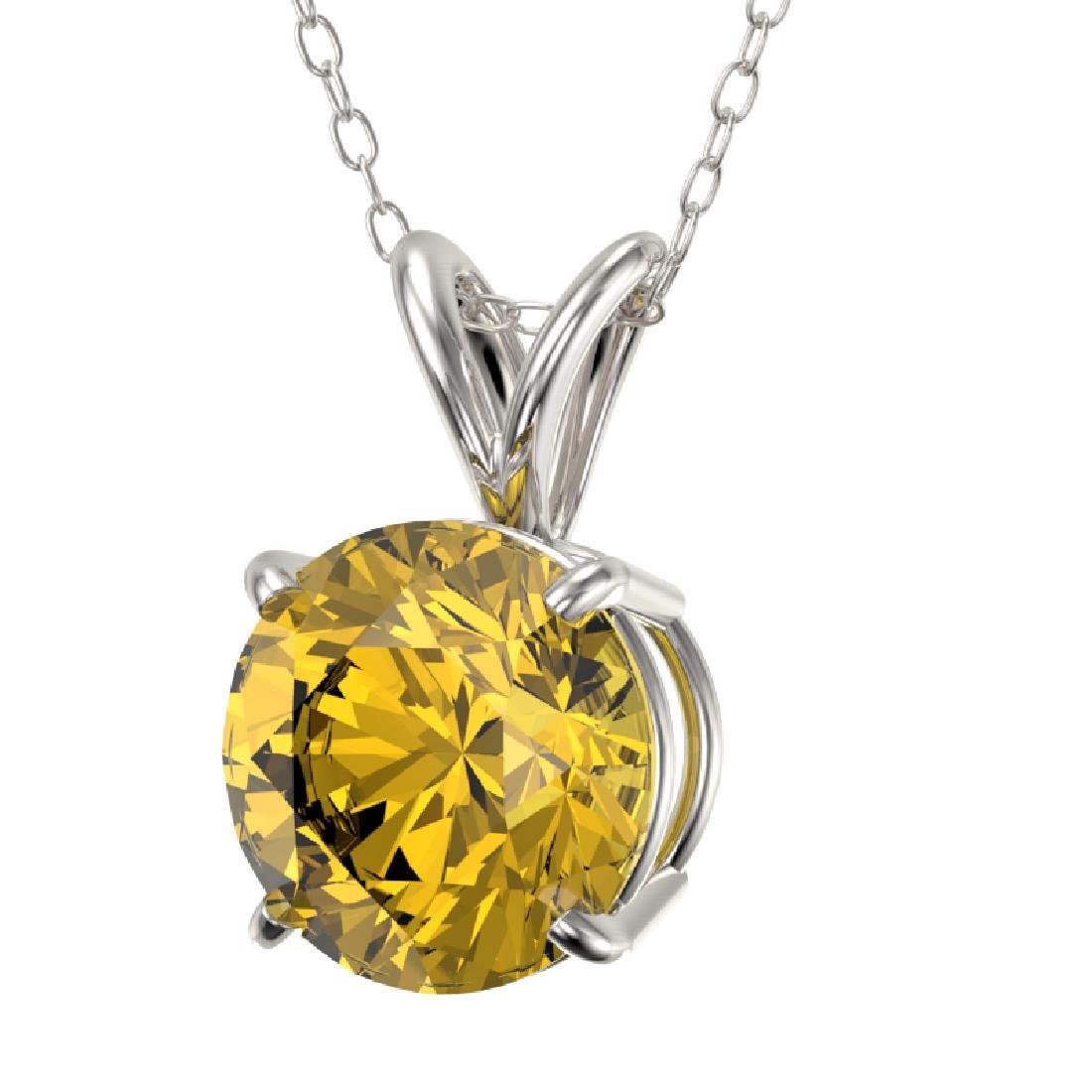 1.53 CTW Certified Intense Yellow SI Diamond Solitaire - 2