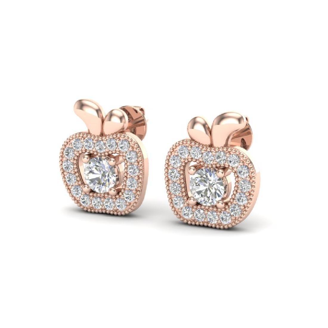 0.60 CTW VS/SI Diamond Micro Pave Halo Earrings 14K