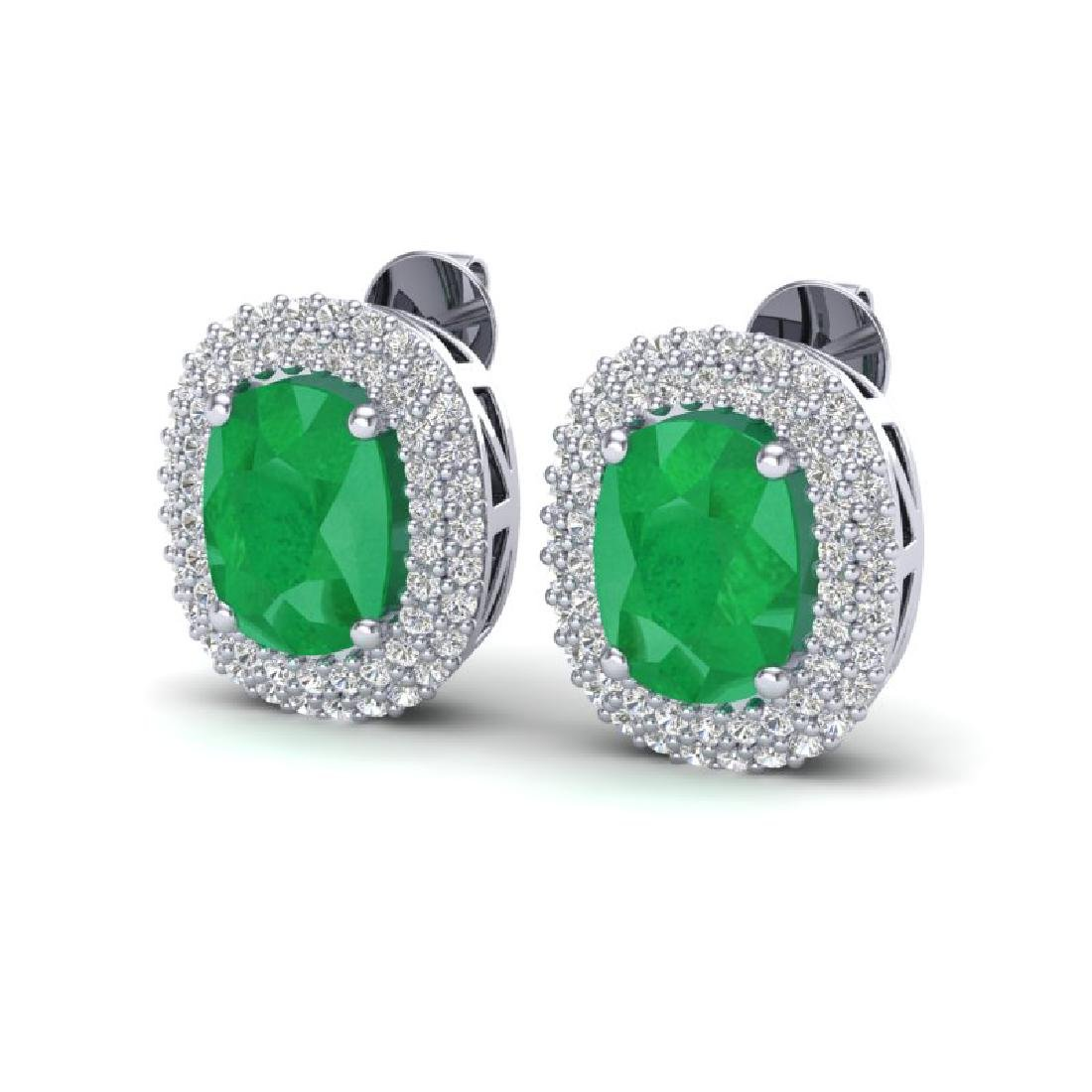 6.30 CTW Emerald & Micro Pave VS/SI Diamond Halo