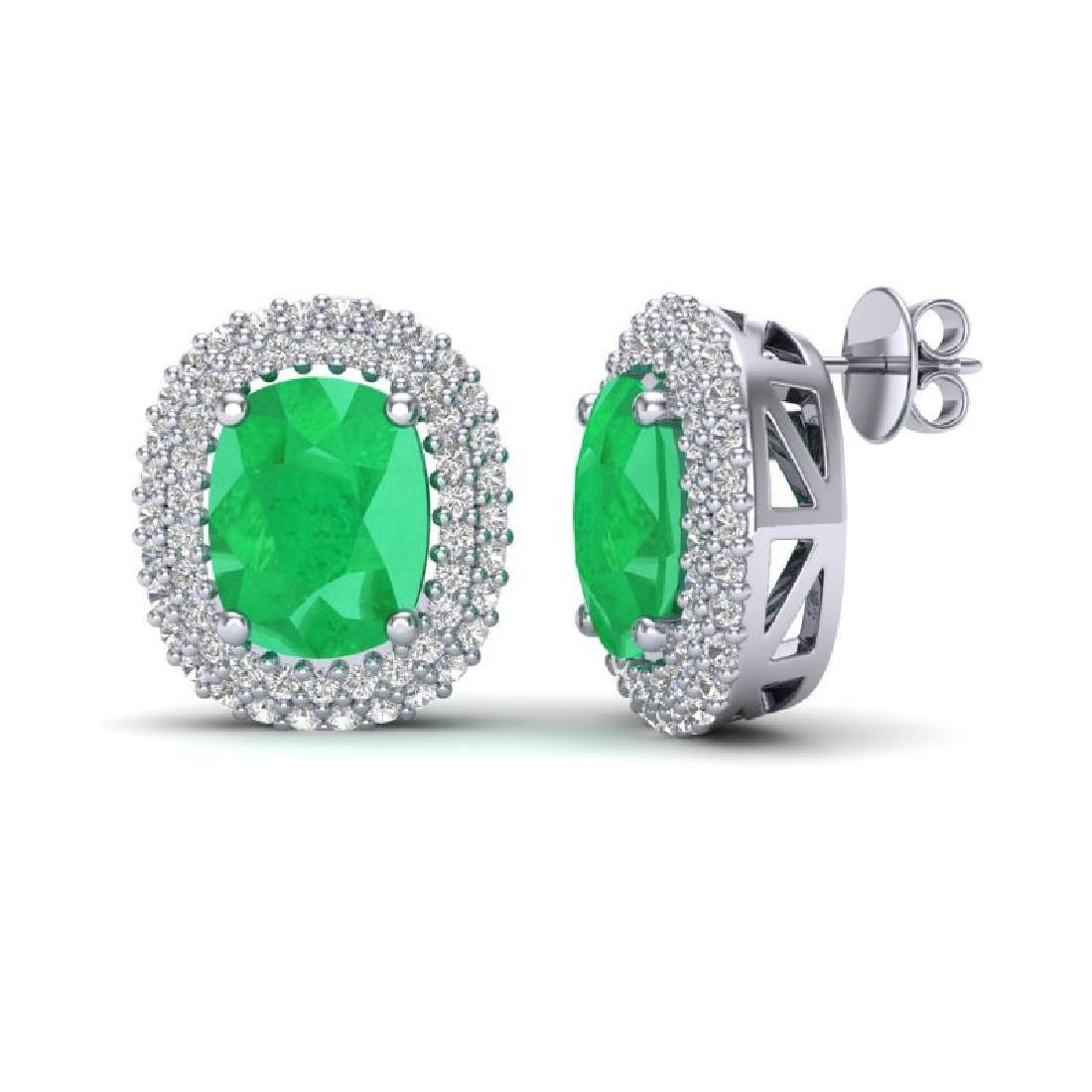 6.30 CTW Emerald & Micro Pave VS/SI Diamond Halo - 2
