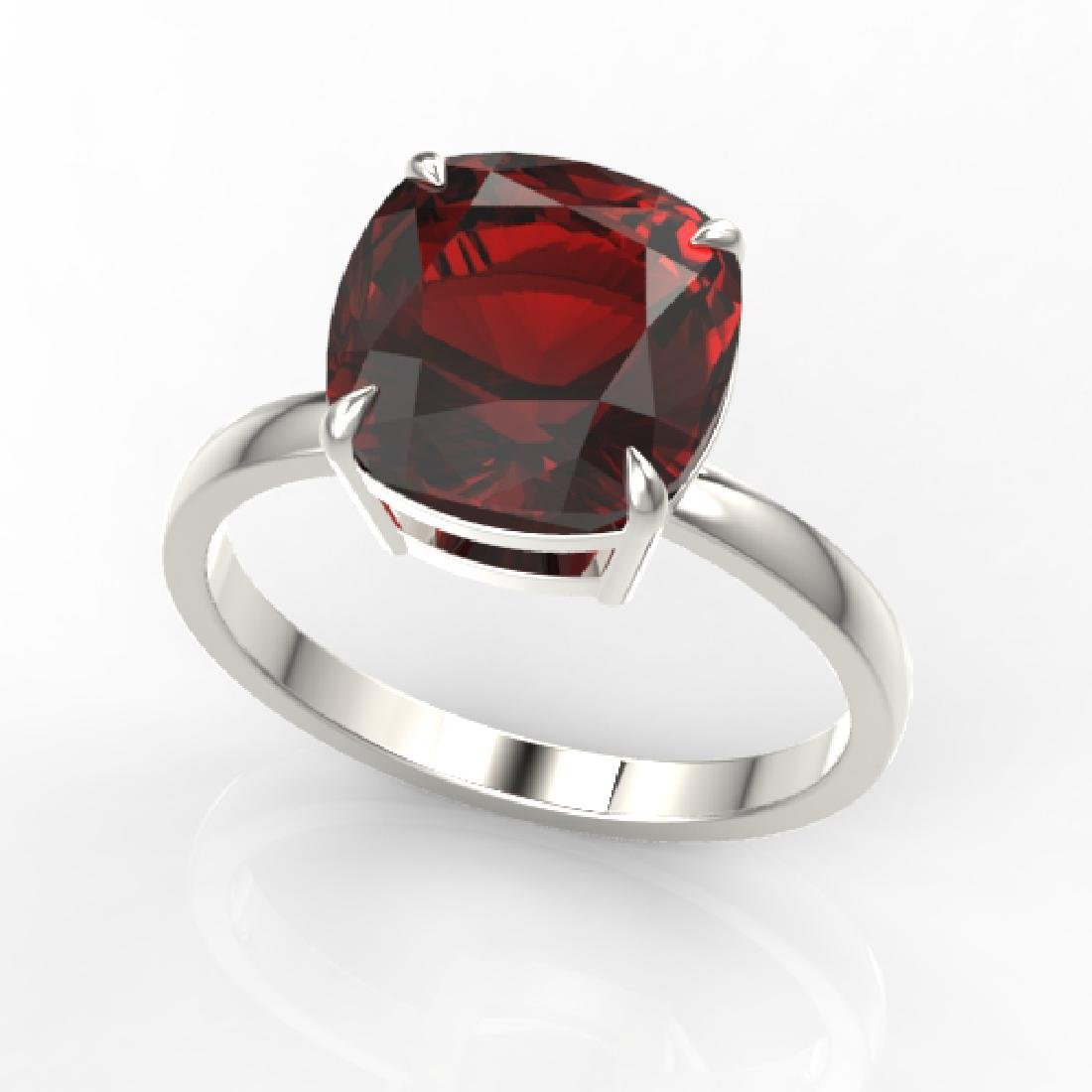 6 CTW Cushion Cut Garnet Inspired Solitaire Engagement - 2