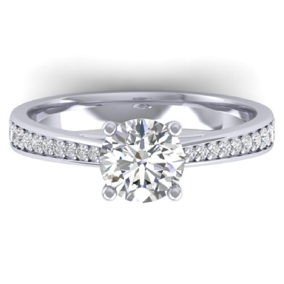 1.26 CTW Certified VS/SI Diamond Solitaire Art Deco