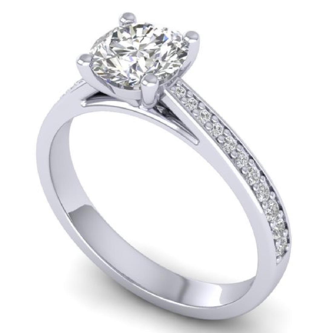 1.26 CTW Certified VS/SI Diamond Solitaire Art Deco - 2
