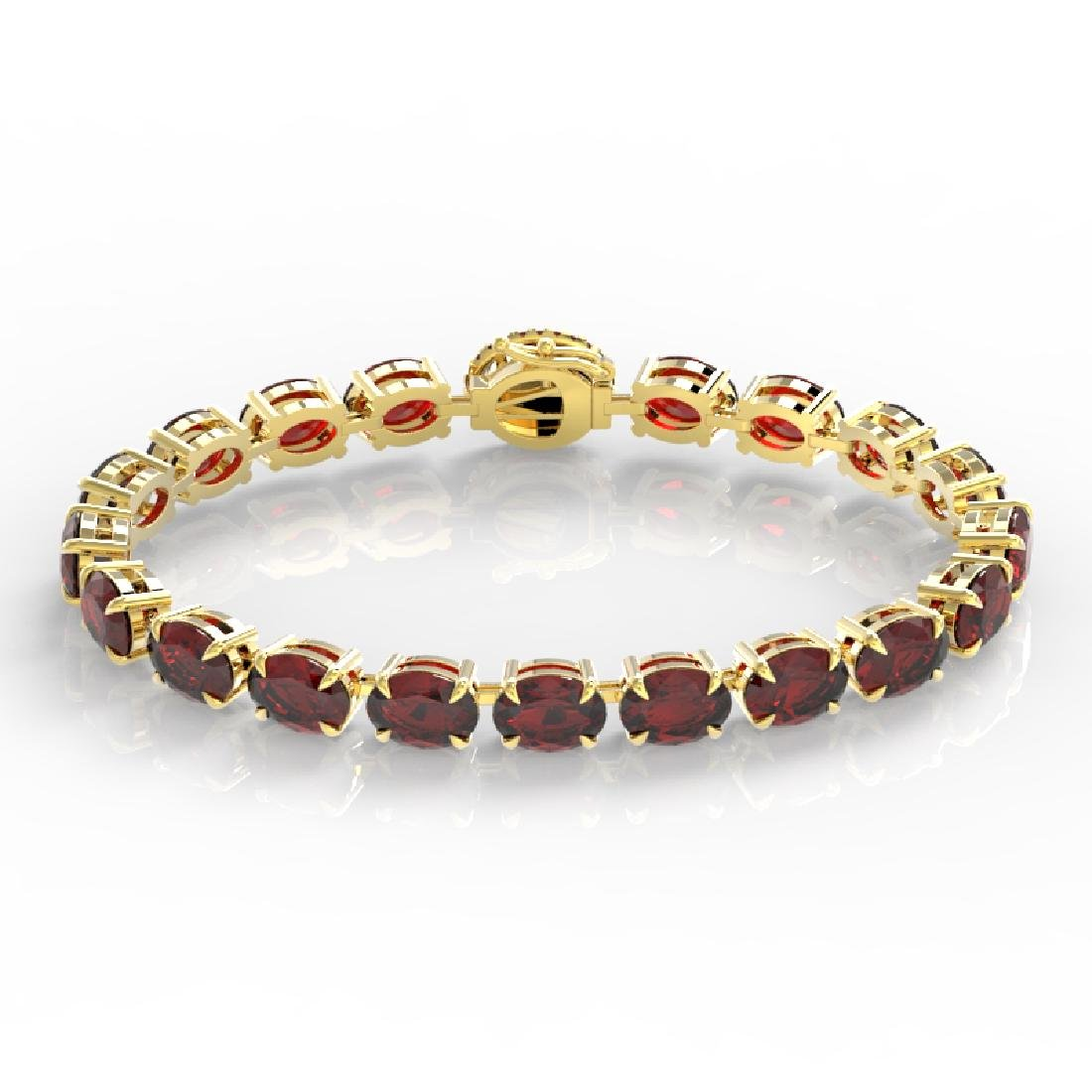 32 CTW Garnet & VS/SI Diamond Eternity Tennis Micro - 2