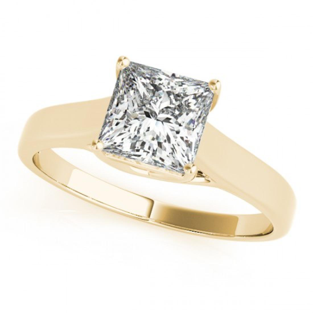 0.75 CTW Certified VS/SI Princess Diamond Solitaire - 2