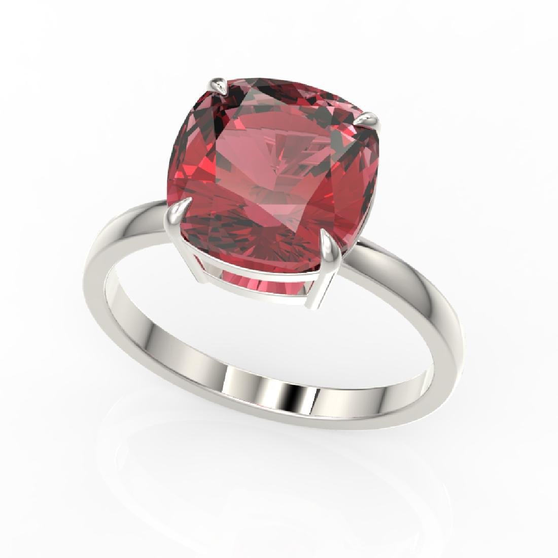 6 CTW Cushion Cut Pink Tourmaline Inspired Solitaire - 2
