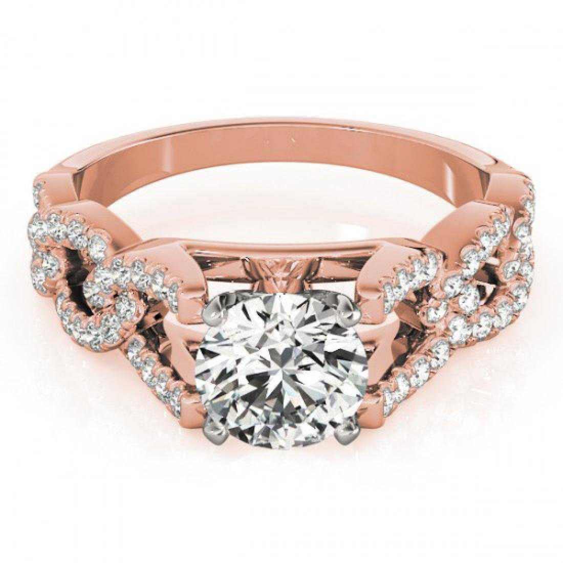 1.5 CTW Certified VS/SI Diamond Solitaire Ring 14K Rose