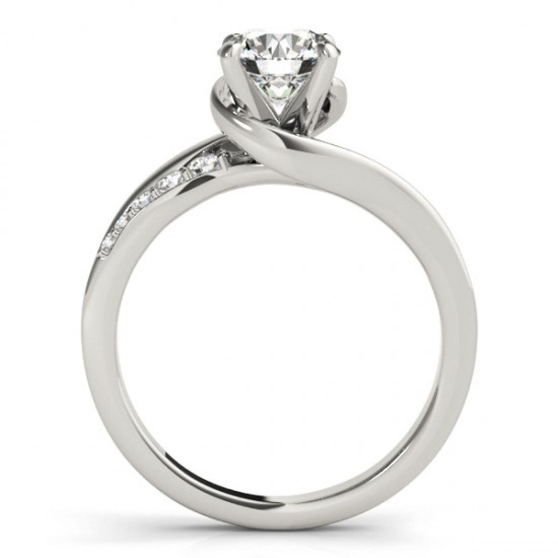 0.81 CTW Certified VS/SI Diamond Bypass Solitaire Ring - 2