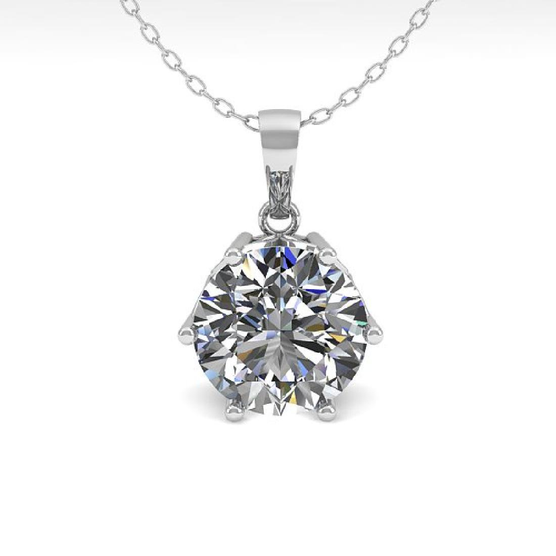 0.50 CTW Certified VS/SI Diamond Art Deco Necklace 14K - 2