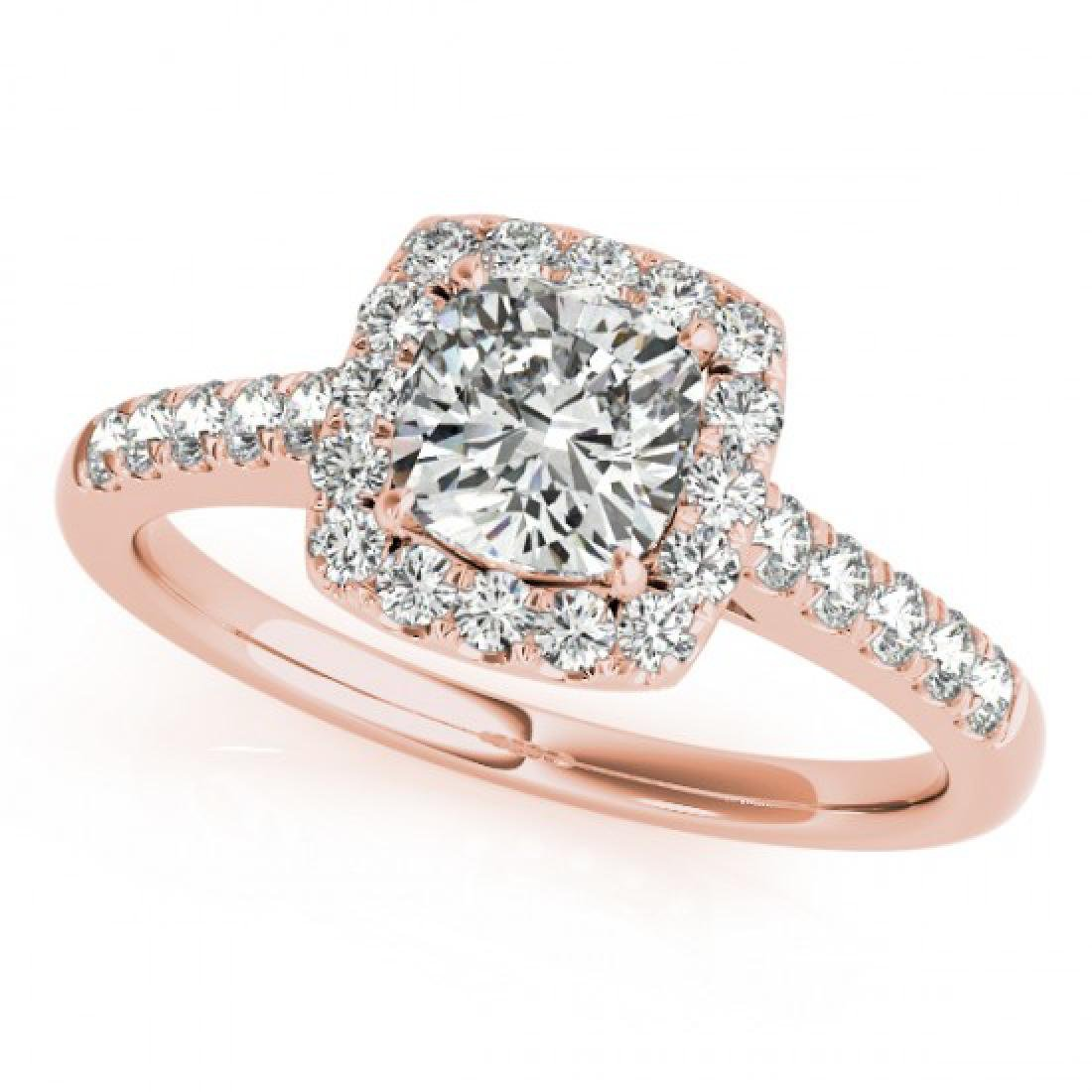 1.45 CTW Certified VS/SI Cushion Diamond Solitaire Halo